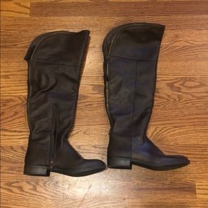 Like new Mossimo brown over the knee boots